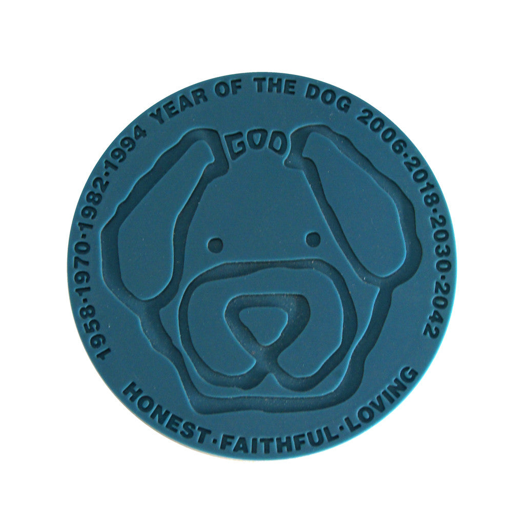 'Chinese Zodiac Dog' coaster, Tabletop and Entertaining, Goods of Desire, Goods of Desire