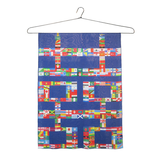 'Double Happiness Flags' Silk Chiffon Scarf