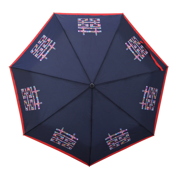 'Double Happiness' Teflon auto umbrella