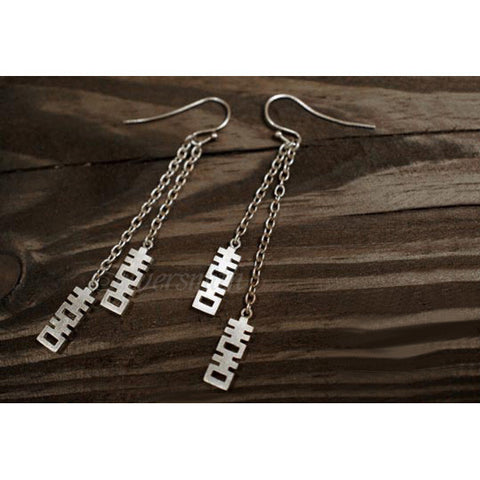 SILVERSMITH Drop Earring - Double Happiness (1pc)