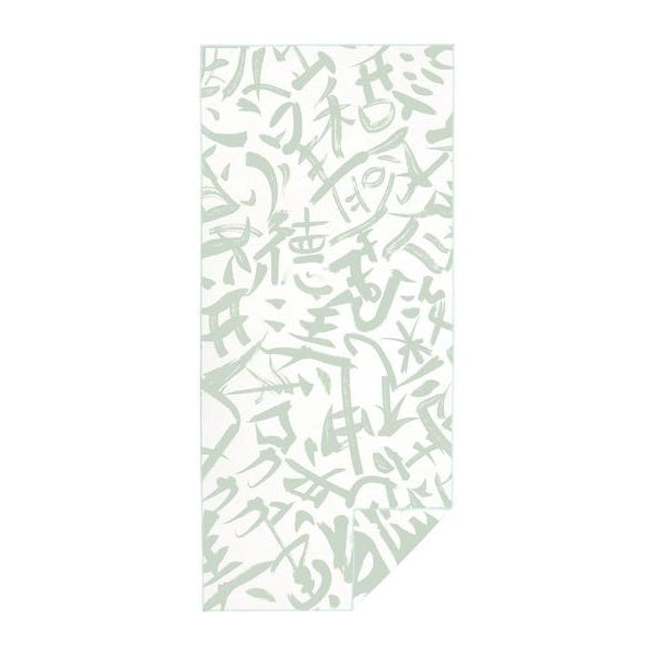 Quick Dry Sand Free Eco Beach Towel Calligraphy, Stilt Green by RUPERT & BIRD