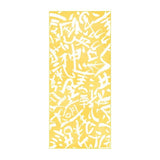 Quick Dry Sand Free Eco Beach Towel Calligraphy, Primrose Yellow by RUPERT & BIRD