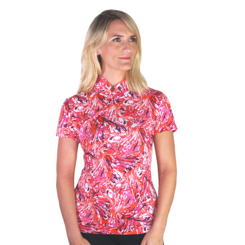 Jersey Mui Jai Top (Fuchsia/Orange)