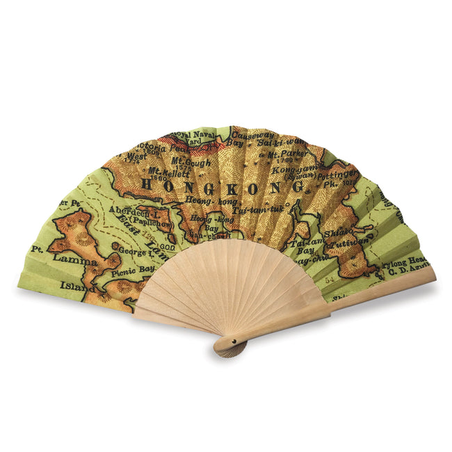 'Hong Kong Classic Map' Folding Fan