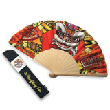 'Lion Dance' Folding Fan