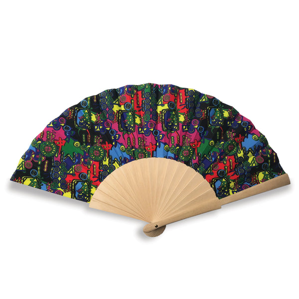 'Abstract Mahjong' Folding Fan