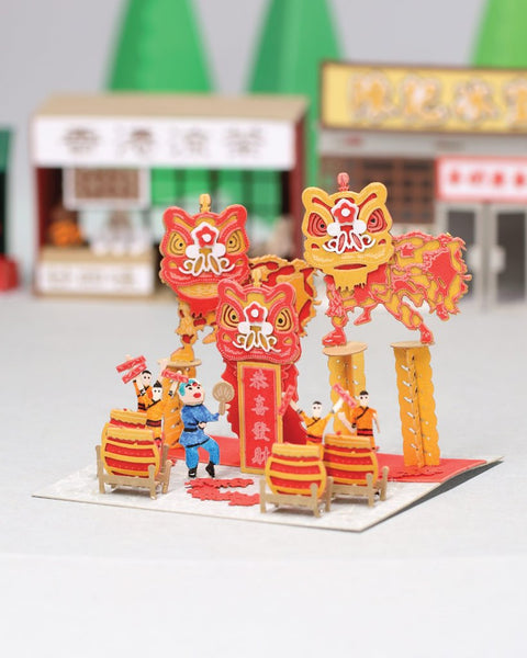 POSTalk FingerART series, Lion Dance