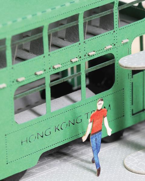 POSTalk FingerART series, Hong Kong Tram