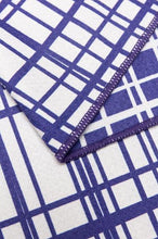 Load image into Gallery viewer, Quick Dry Sand Free Eco Beach Towel Fishing Lines, Deep Blue by RUPERT & BIRD