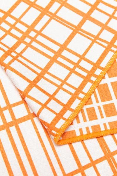 Quick Dry Sand Free Eco Beach Towel Fishing Lines, Dusty Orange by RUPERT & BIRD