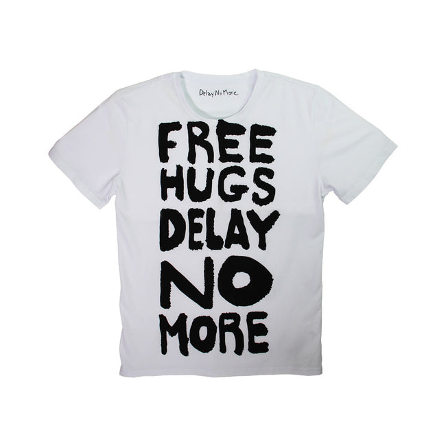 <!--B-->'Delay No More Free Hugs' tee (white)