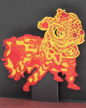 Load image into Gallery viewer, POSTalk mini pop-up card, Lion Dance