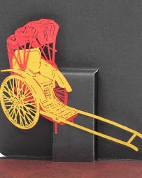 POSTalk mini pop-up card, Rickshaw