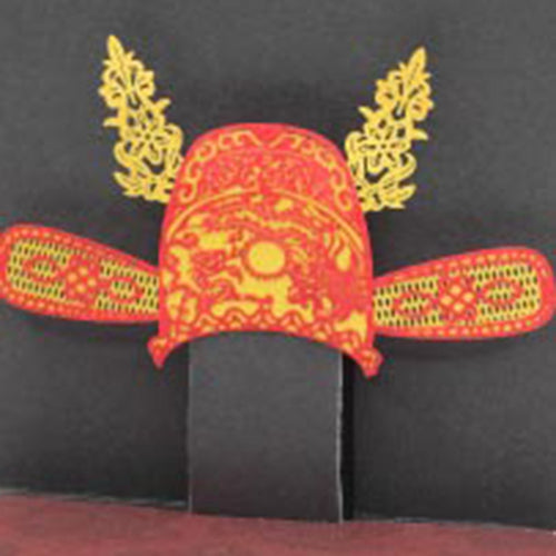 POSTalk mini pop-up card, Chinese Scholar Hat