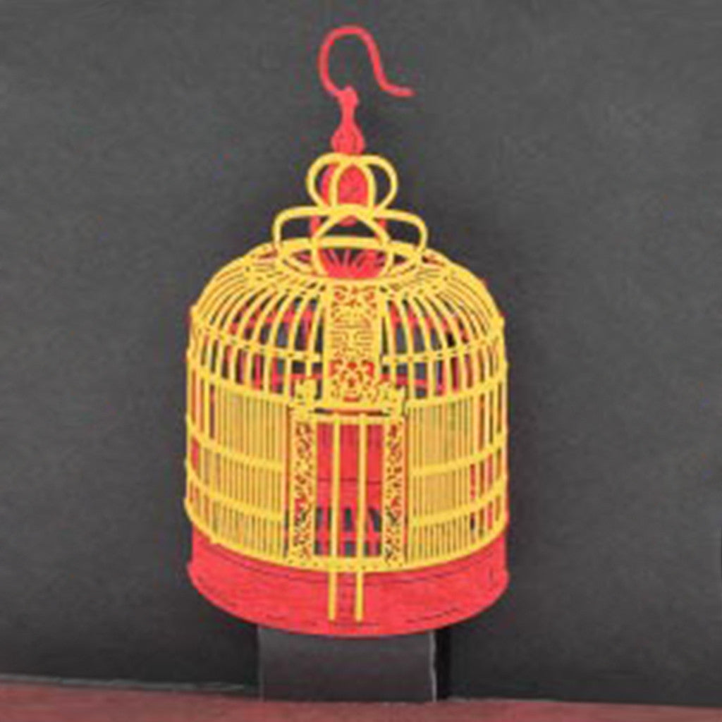 POSTalk mini pop-up card, Bird Cage