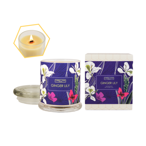 Ginger Lily Beeswax Jar Candle by Carroll&Chan