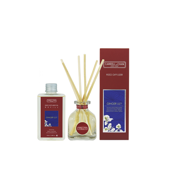 Ginger Lily 100ml Diffuser Set by Carroll&Chan