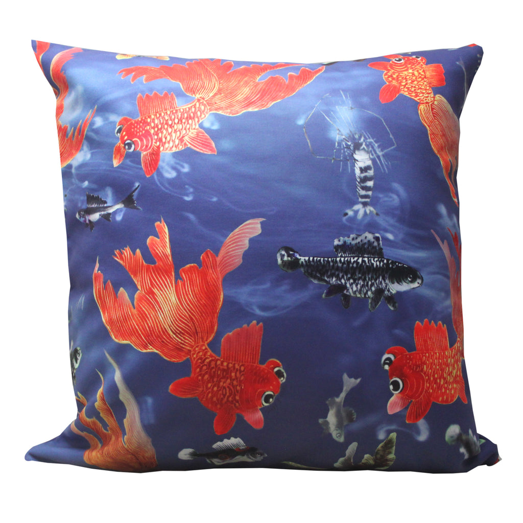 'Goldfish' double sided cushion cover (45 x 45 cm)