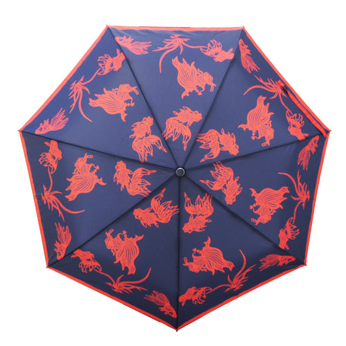 'Goldfish Papercut' Teflon™ Quick Dry Umbrella