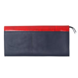 'Koi Symphony' printed leather long wallet with button closure