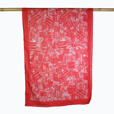 'Graffiti Goldfish' cotton scarf