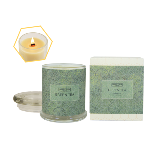 Green Tea Beeswax Jar Candle by Carroll&Chan