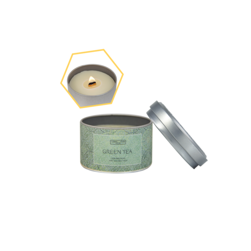 Green Tea Beeswax Tin Candle by Carroll&Chan