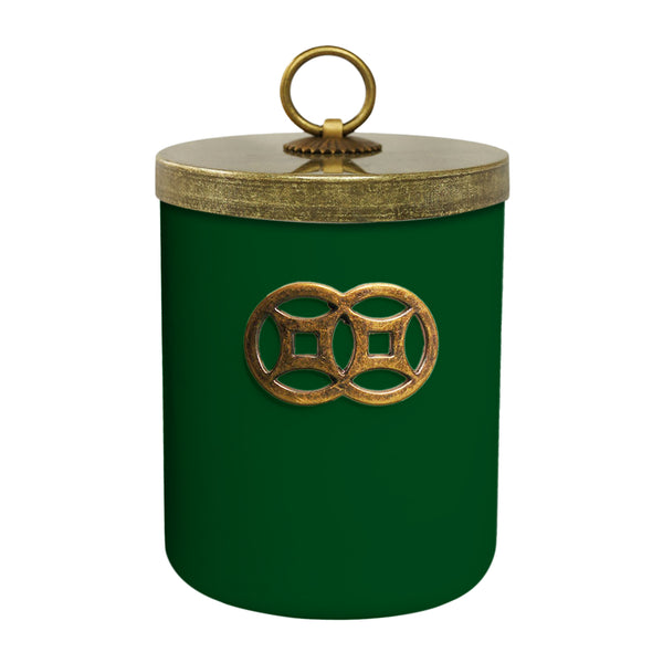 'Green Forest' Double Coin Jar Candle