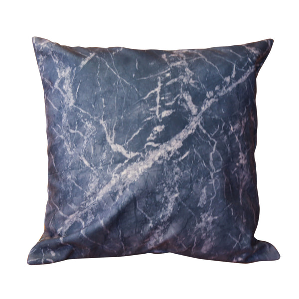 'HKG Marble' cushion cover (black, 45x45cm)