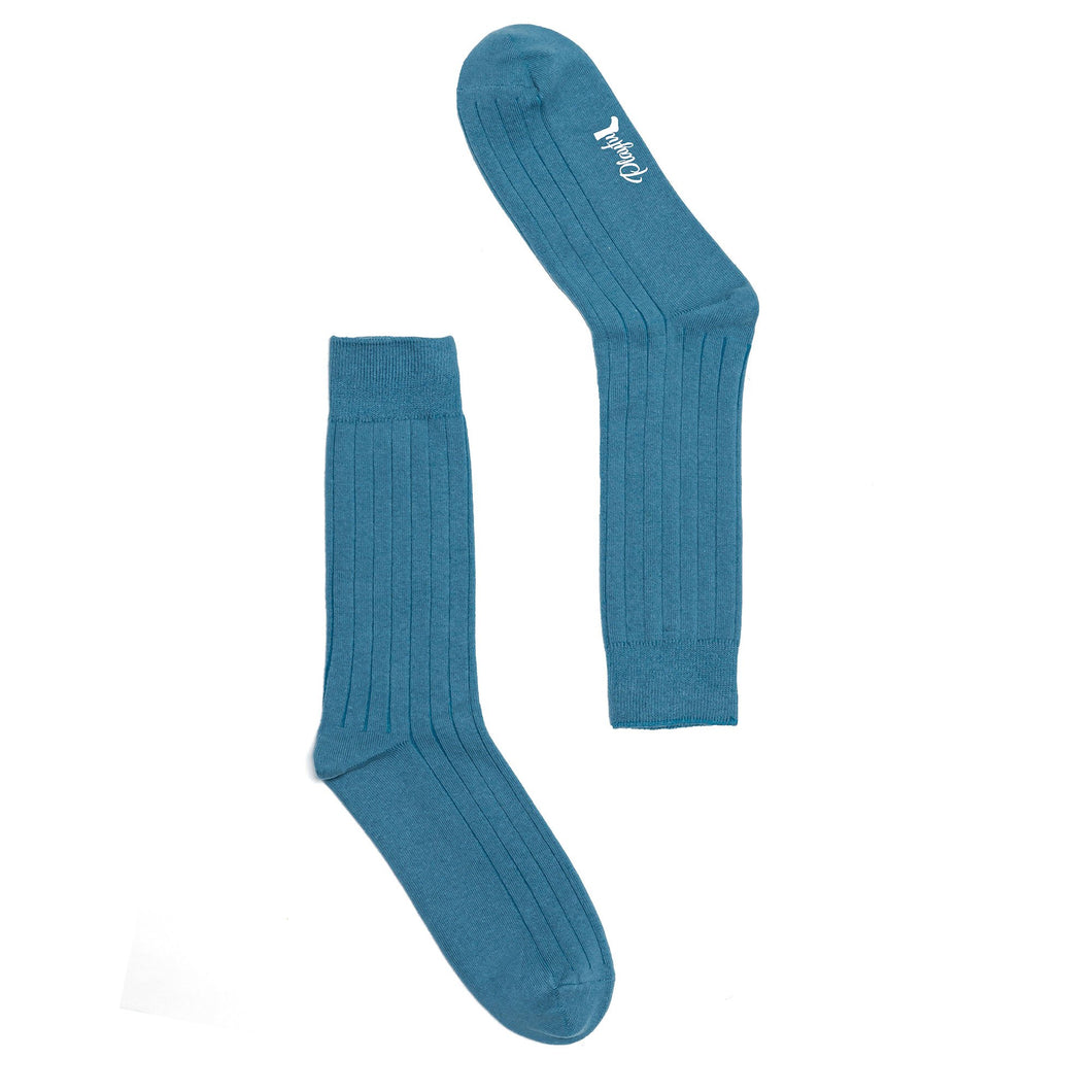 Playful Socks, Denim Blue