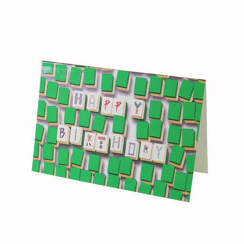 Mahjong Birthday Card