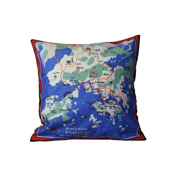 'HK Map' cushion cover (45x45cm)