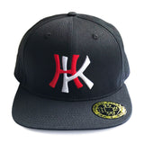 'HK' 3D Baseball Cap, Red/White