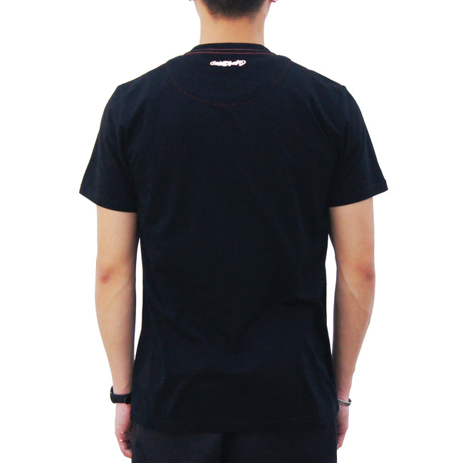 'HK' Embroidery Pocket T-shirt