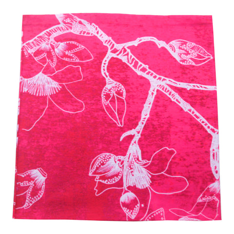 'Kapok Tree' tube wrap (pink with white)