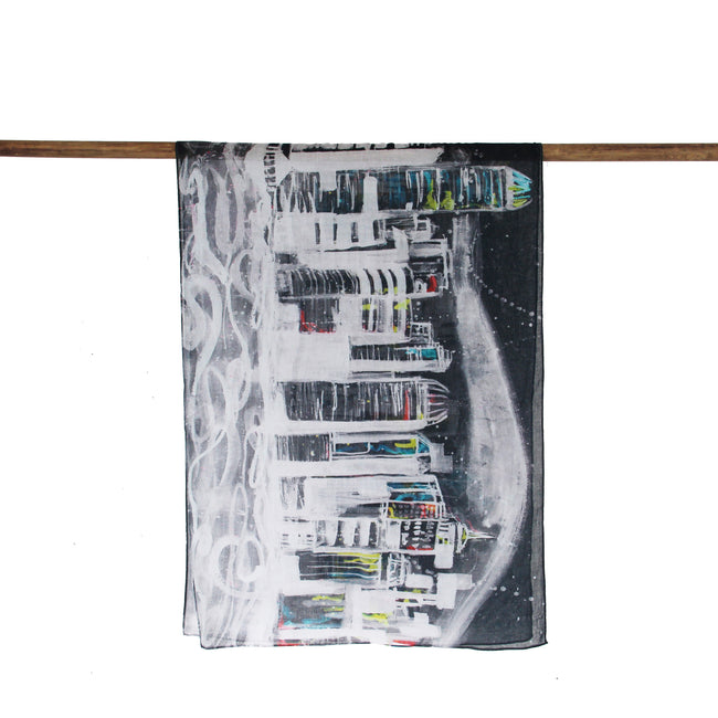 'Hong Kong Skyline' cotton scarf, Scarves & Wraps, Goods of Desire, Goods of Desire