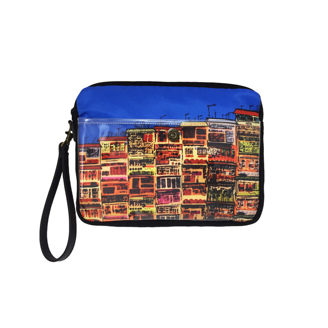 'Alex Croft x G.O.D. graffiti wall' carryall travel pouch