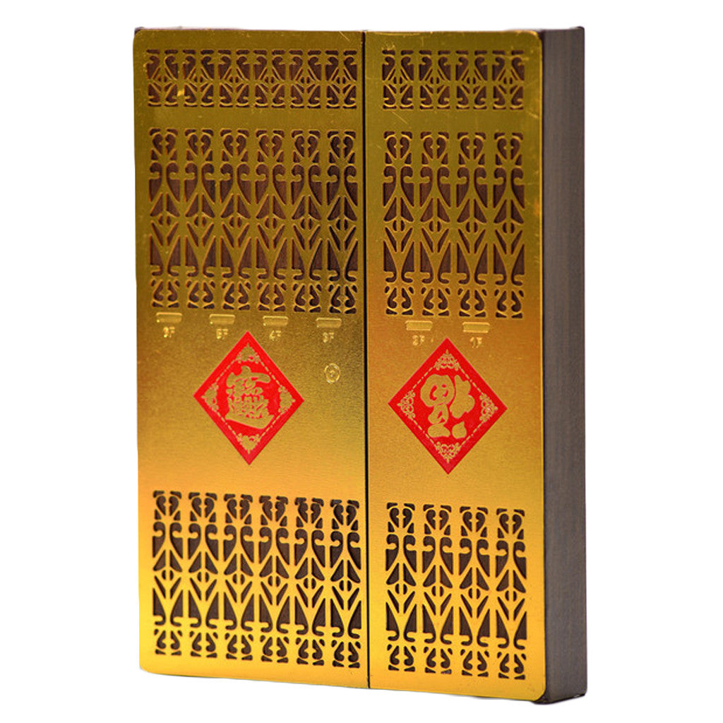 Jan Hong Kong Gate notebook Large - Gold