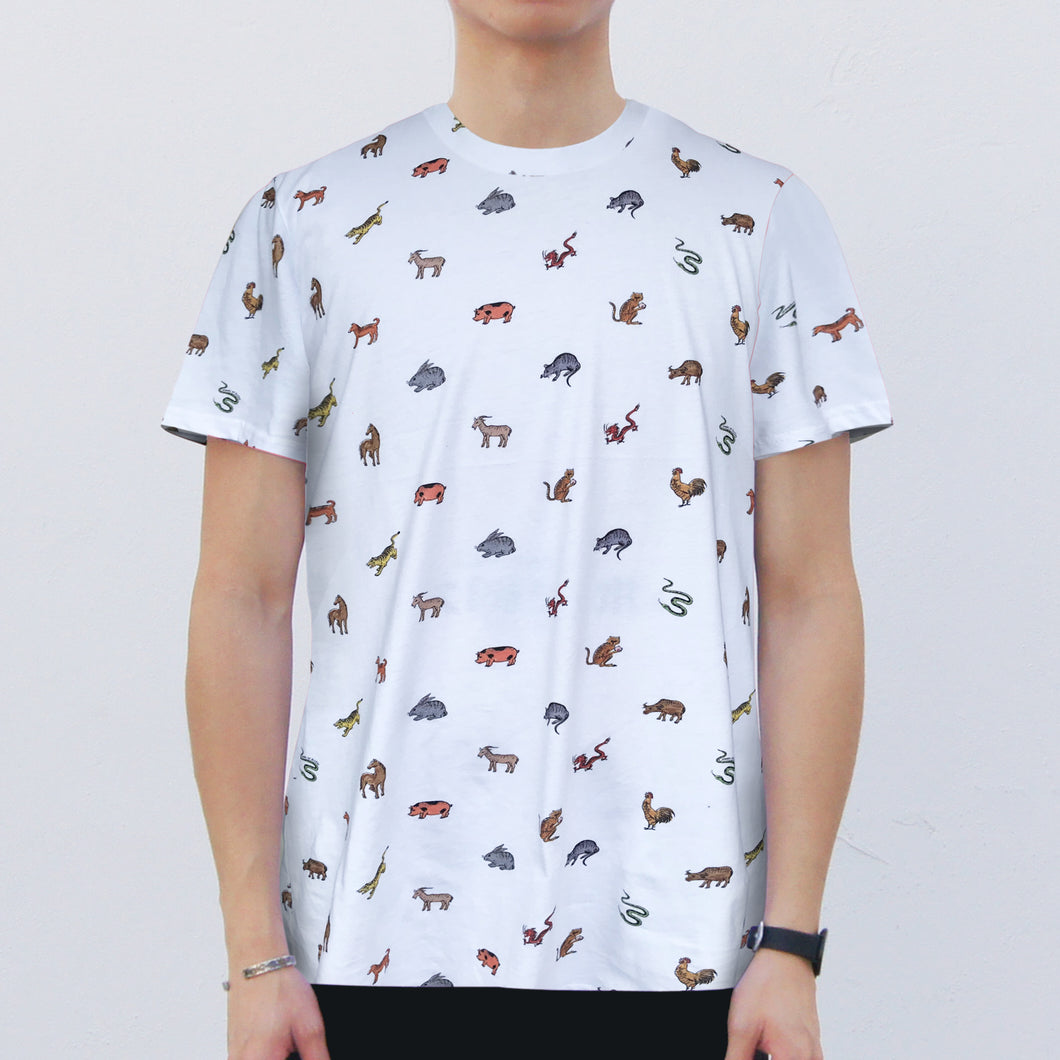 '12 Zodiac' T-shirt, White