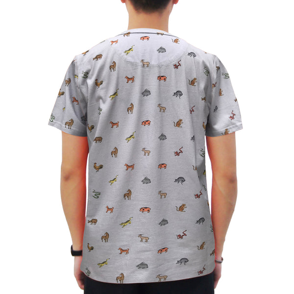 12 Zodiac T-Shirt, Grey