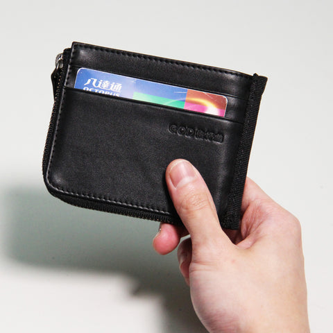 'Delay No More' money clip wallet