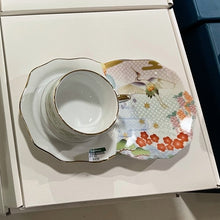 Load image into Gallery viewer, ByLeona Crane, Cup & Saucer Set