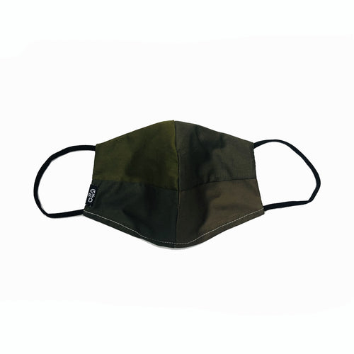 Green Combo Snouted Mask with Holder