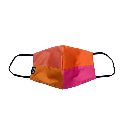 Orange Combo Snouted Mask with Holder