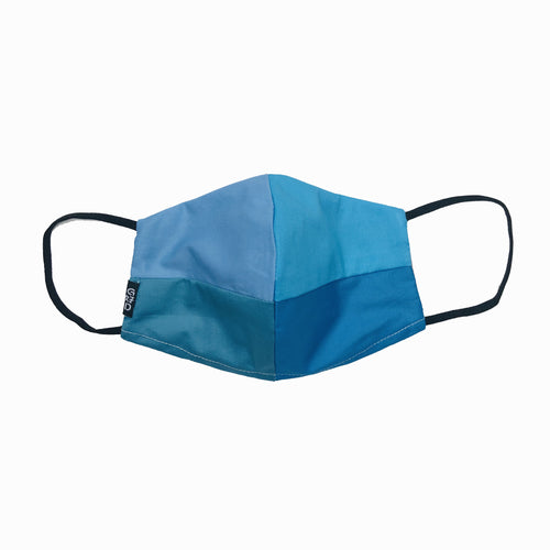 Blue Combo Snouted Mask with Holder