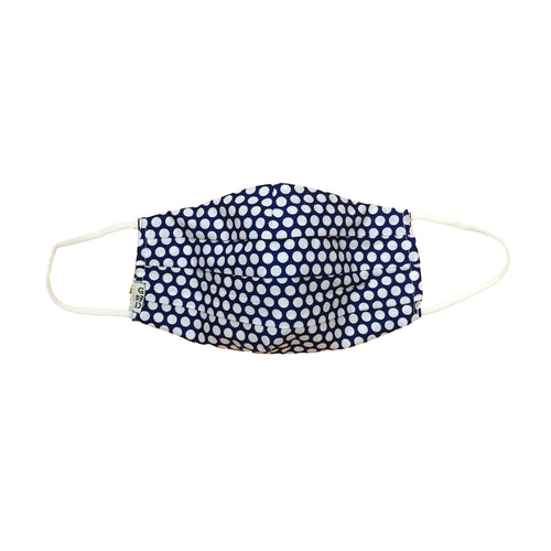 Dots Purple Pleated Mask with Mesh Fabric Inner Layer