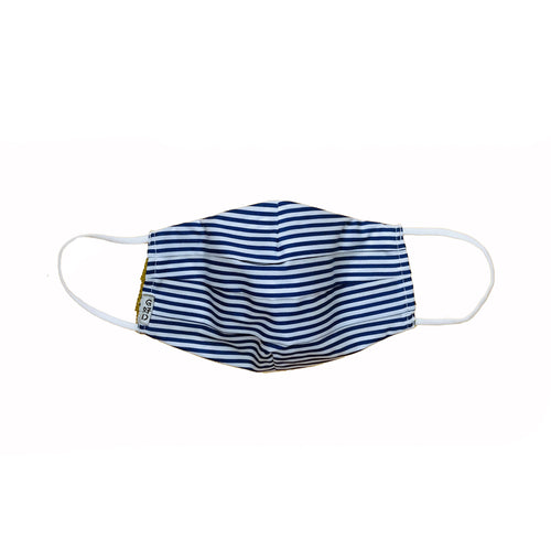 Blue Strips Pleated Mask with Mesh Fabric Inner Layer