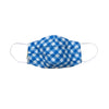 Checkers Blue Pleated Mask with Mesh Fabric Inner Layer