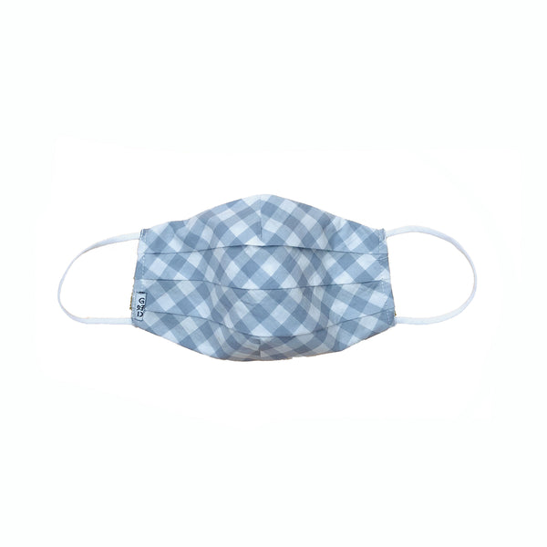 Checkers Grey Pleated Mask with Mesh Fabric Inner Layer