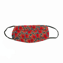 Load image into Gallery viewer, Red Cactus Pleated Mask with Mesh Fabric Inner Layer